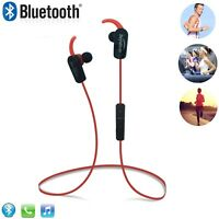 New Red Wireless Stereo Bluetooth Headphones for Mobile Cell Phone Laptop Tablet