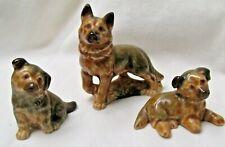 New ListingVintage Wade of England Doggie Family German Shepherd Dog Figurine Set