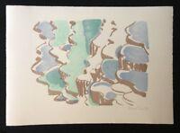 Silke Leverkühne, Wasserlandschaft, Lithographie, 1994, handsigniert und dat