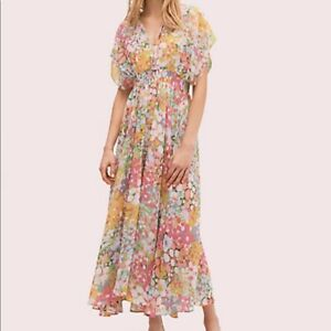 New Kate Spade Floral Dots Cover Up Dress Sz S $178