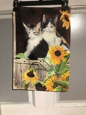 Mini Garden Yard Flag New Kitties With Sunflowers Free Fast Shipping
