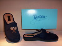 Ciabatte pantofole chiuse Rondine uomo slippers men invernali da casa blu new 41
