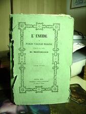 libro  L'ENEIDE  Virgilio Vol. II  Montedelcico    Tip. Landi e Alessandri  1856