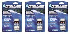 7740 ''potable Aqua'' Water Purification-3 Bott 150 Tablets