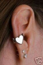 Sterling Silver Bat winged Heart Ear Cuff by Marty Magic