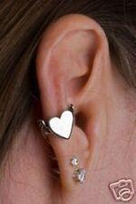 Sterling Silver Bat winged Heart Ear Cuff by Marty Magic