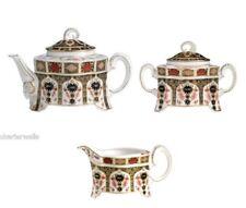 New Royal Crown Derby 1st Quality Old Imari 1128 Ram 3pc Tea Set