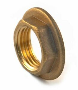 """Brass Flanged Locknut - choose from 1.1/4"""" to 2""""BSP"""