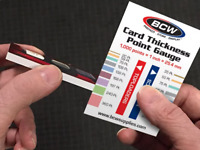 BCW Trading Card Thickness Point Gauge Sizing Chart Card