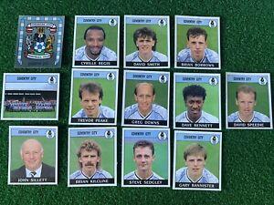 13x Panini Football 89 Coventry City Team Unused Stickers Badge Bundle Lot