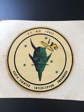 "VINTAGE U.S.A.F.  433RD "" SATAN'S ANGEL'S "" FIGHTER INTERCEPTOR SQUADRON DECAL"