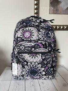 VERA BRADLEY Essential Large Backpack Bag Mimosa Medallion Padded Laptop NWT