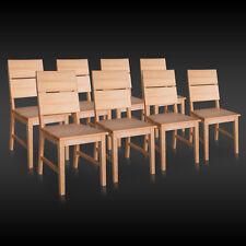 8x Stuhl SERGENT-G Kernbuche Buche Massivholz Stühle Küchenstuhl Wohnzimmersthul