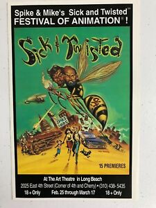 SPIKE AND MIKE'S SICK & TWISTED 94' ANIMATION FEST PROGRAM COLLECTIBLE! RARE!
