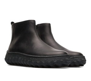 Camper Womens UK 8 EU 41 Black Leather K400460-001 Rancho Michelin Ankle Boots