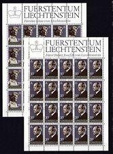 Postfrische Briefmarken aus Liechtenstein mit Königshäuser-Motiv