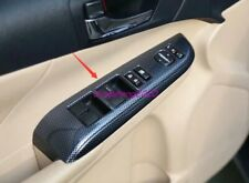 Carbon fiber style Inner Window Switch Panel Cover Trim For Toyota Camry 12-2017