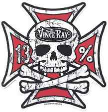 Iron Cross Skull Sticker Decal Vince Ray VR69