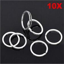 10 pcs / lot DIY Key Ring Metal Stainless Steel Silver Nickel Split Key Ring Key