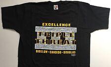 ECW Original TRIPLE THREAT T-Shirt 2XL XXL (EXTREME CHAMPIONSHIP WRESTLING)