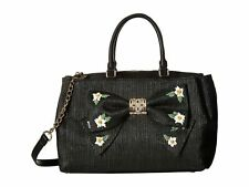 Betsey Johnson Bj78305a Daisy'd and Confused Bow Satchel Black