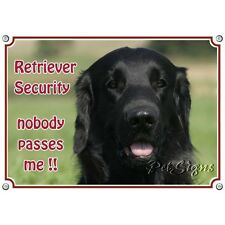 Dog Sign Flat Coated Retriever - SECURITY