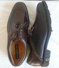 Men's Foot Joy Icon Brown Black asymmetrical Pebble stone Golf Shoes size 9.5M