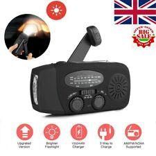 Dynamo Wind Up Solar USB Rechargeable Hand Crank Portable AM FM Radio Light UK