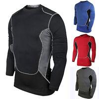 Contenitive Uomo T-Shirt a Maniche Lunghe Maglia Termico sotto Base Strati Pelle