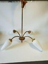 💡 rare lustre suspension vintage orientable et flexible 4 branches
