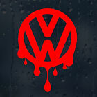 VW Bloody Drips Volkswagen Logo Car Decal Vinyl Sticker VW Golf Passat Scirocco
