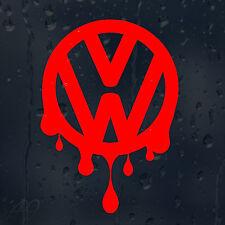 VW sangriento goteos Volkswagen Logo Coche Calcomanía Vinilo Sticker VW Golf Passat Scirocco