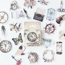 46pcs/lot Vintage Paper Stickers Set DIY Scrapbooking Photo Album Decorations