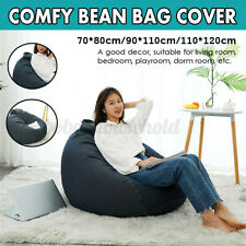 DenimBean Bag Lazy Sofas Cover Lounger Seat Living Room Furniture Withou