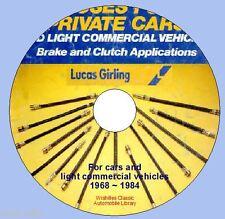 Informazioni su Girling freno & frizione TUBI intorno al 1968 - 1984 DVD ROM