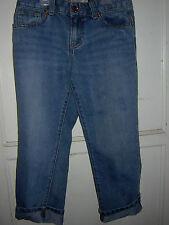 Girls CaprisBlueJean Bottoms Old Navy Size 12 ButtonZip Cuffed Adj.Waist  GUC