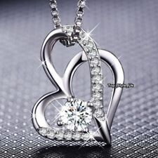 Silver 925 Crystal Necklace Xmas Gifts for Her Wife Mother Women Jewellery J674