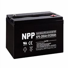 NPP 6V 200Ah AGM Group 27 M83CHP06V27 RA6-200 PS-62000 Pallet Jack Battery