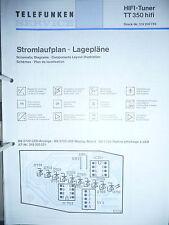 Schema für Telefunken TT 350 Tuner,ORIGINAL