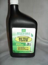 Renewable Lubricants Biobased Biodegradable 2 Cycle Oil 32 OZ / 1 QT.