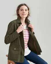 Joules Womens Corinne Lightweight Casual Jacket - DARK GREEN Size 14