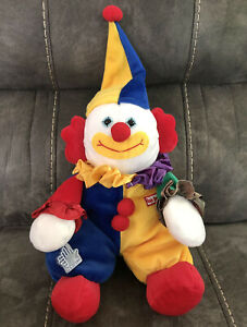 """Applause Circus Clown Plush Doll 12"""" With Plastic Hang Tag Marcel Les Petits"""