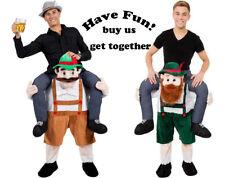 2pcs Halloween Carry Me Bavarian Beer Guy Mascot Costume dress Oktoberfest Adult