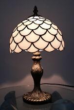20.3cm Tiffany Antique Laiton Lampe Moderne Maison Chevet Tables avec Verre Pare
