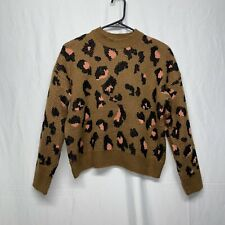 BBWM animal print knit crop sweater size S