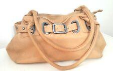 Madi Pelleteria Soft leather Shoulder Handbag satchel Italy rhinestone studded