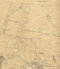 New Fairfield Candlewood Lake Ball Pond CT 1867 Map with Homeowners Names Shown