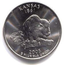 U.S. Kansas Buffalo Sunflower State Quarter 2005 D Coin Denver Mint