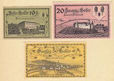 Bodendorf (OÖ) -Gemeinde- 10 H, 20 H und 50 Heller (JP 96 I)