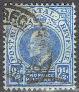 Natal.  EVII.  1902-3.  Short set of 4 to 1/- used.  Scott 85, 86, 89, 90.